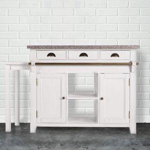 MAPLE HILL Küchenblock mit Granitarbeitsplatte