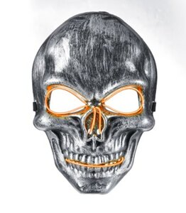 LED-Maske Totenkopf