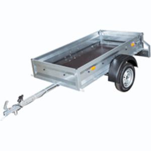 Master Trailer Einachsanhänger mit feuerverzinktem Stahlgrundrahmen, bis 750 kg, 206x106x35 cm