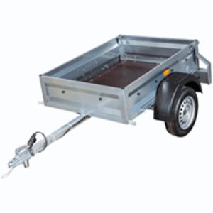 Master Trailer Einachsanhänger mit feuerverzinktem Stahlgrundrahmen, bis 750 kg, 145x106x35 cm