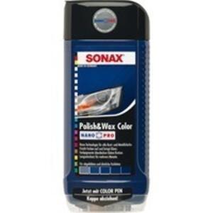 SONAX 296200 Politur Polish & Wax Color NanoPro blau 500ml