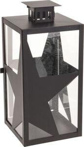 Laterne mit Sternen - Metall - ca. 34 cm