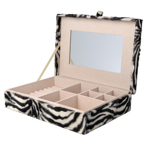 Schmuckbox im Zebra-Look