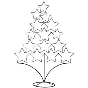 Metallbaum mit Sternen