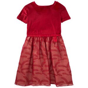 Festliches Mädchen Kleid mit Samtoberteil