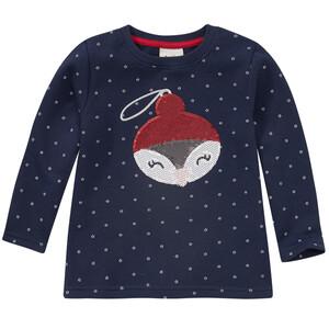 Mädchen Sweatshirt mit Weihnachts-Motiv
