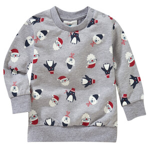 Baby Sweatshirt mit weihnachtlichen Motiven