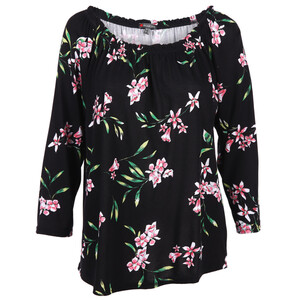 Damen Shirt im floralen Look mit 3/4 Arm