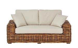 Rattan-Sofa 2-sitzig