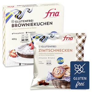 Fria Zimt Schnecken oder Browniekuchen Glutenfrei, gefroren, jede 230/400-g-Packung und weitere Sorten