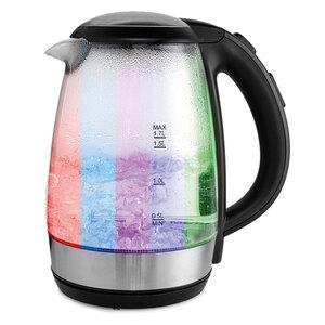 Powertec Kitchen Glas-Wasserkocher mit LED Farbwechsel