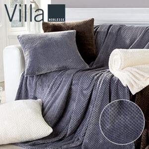 Decke mit Jacquard-Effekt traumhaft weiche Qualität mit hochwertiger Struktur, versch. Farben, 150 x 200 cm  Dekokissen 50 x 50 cm je 9,99