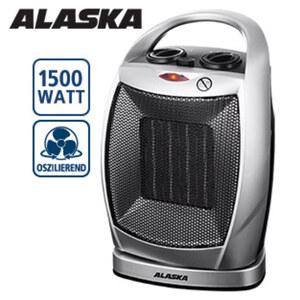 Keramik-Heizlüfter CH 1500 N · 2 Heizstufen + Kaltstufe · regelbarer Thermostat · Sicherheits-Abschaltung beim Umkippen