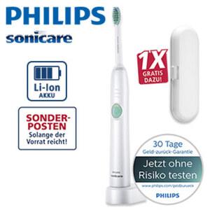 Schall-Zahnbürste HX 6511/22RE · abgewinkelter Bürstenkopf für bessere Reinigung an schwer erreichbaren Stellen · bis zu 100 % mehr Plaque-Entfernung**