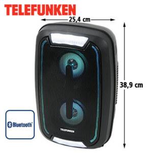 Bluetooth®-Party-Lautsprecher BS1023 • LED-Display, FM-Radio • USB-/3,5-mm-Klinken-Anschluss •  Mikrofon-Anschluss • integr. Akku