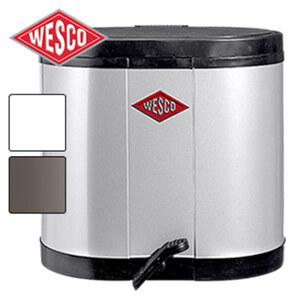 Treteimer - versch. Farben - mit 2 Abfallbehältern, je ca. 15 Liter Inhalt - Maße: ca. H 43 x B 45 x T 36 cm