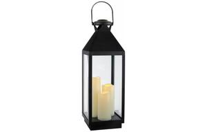 LED-Laterne XXL mit 3 Kerzen ca. 60cm