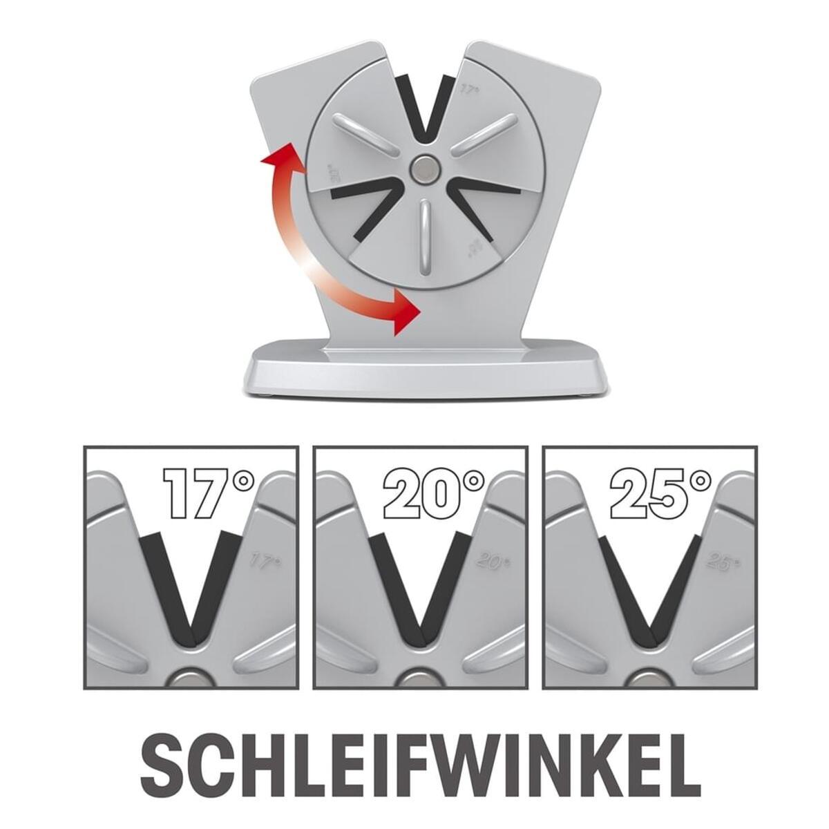 Bild 2 von GOURMETmaxx Messerschärfer - 3 Schleifwinkel