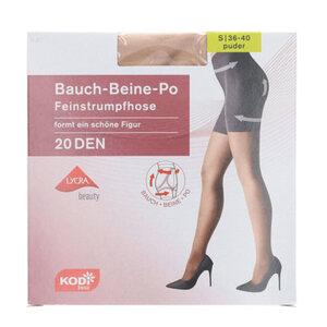 """KODi Basic Feinstrumpfhose """"Bauch-Beine-Po"""" 20 den 36-40 in Puder"""