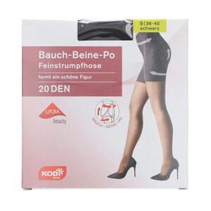 """KODi Basic Feinstrumpfhose """"Bauch-Beine-Po"""" 20 den 36-40 in Schwarz"""