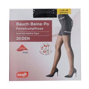 """KODi Basic Feinstrumpfhose """"Bauch-Beine-Po"""" 20 den 46-48 in Schwarz"""