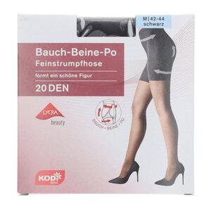 """KODi Basic Feinstrumpfhose """"Bauch-Beine-Po"""" 20 den 42-44 in Schwarz"""