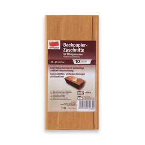 Backpapierzuschnitte für Königskuchen 10er Pack