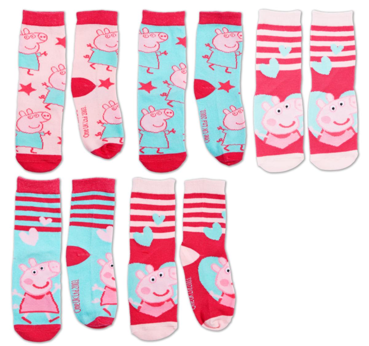 Bild 2 von PEPPA PIG oder FEUERWEHRMANN SAM Socken