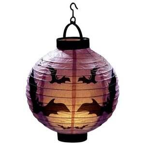 IDEENWELT LED-Halloween-Lampion Fledermäuse