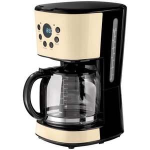IDEENWELT Retro-Kaffeemaschine creme