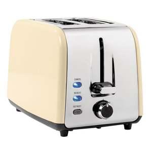 IDEENWELT Retro-Doppelschlitz-Toaster creme