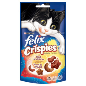 Purina Felix Crispies mit Rind- und Huhngeschmack 45g