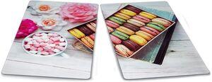 Kitchen Club Herdabdeckplatten, 2er Set - Macarons