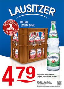 Lausitzer Natürliches Mineralwasser Original, Medium oder NaturellDu spendest 1 Cent pro Flasche für einen guten Zweck!