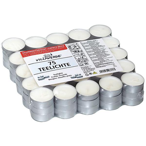 CleverPick Teelichte - weiß - 75 Stück