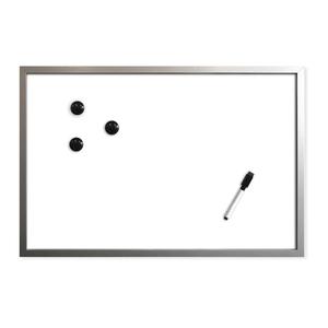 Magnet-Schreibtafel - silber-weiß - 40x60 cm