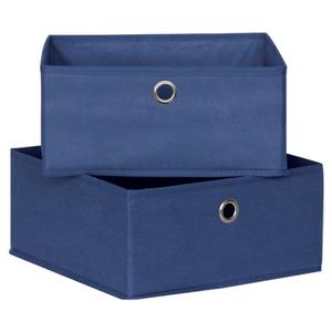 2er-Set Schubladen - Faserstoff - blau - 28 cm