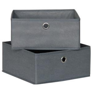 2er-Set Schubladen - Faserstoff - grau - 28 cm