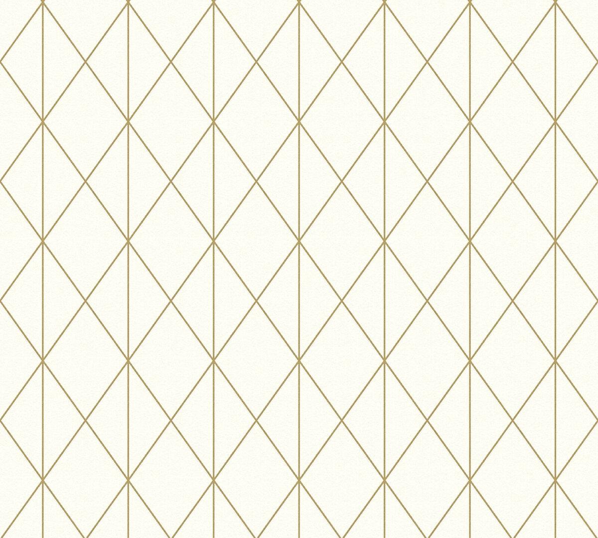 Bild 1 von A.S. Creation Vliestapete Designdschungel by Laura N.- gold metallic-creme - 10 Meter