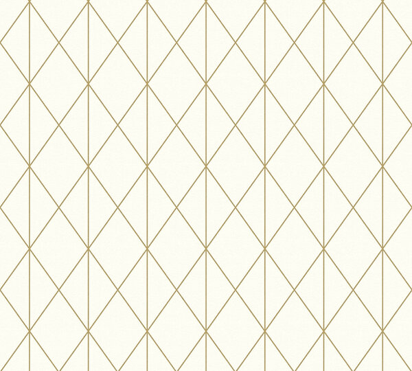 A.S. Creation Vliestapete Designdschungel by Laura N.- gold metallic-creme - 10 Meter