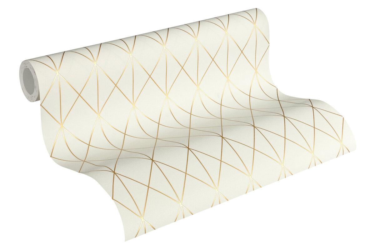 Bild 2 von A.S. Creation Vliestapete Designdschungel by Laura N.- gold metallic-creme - 10 Meter