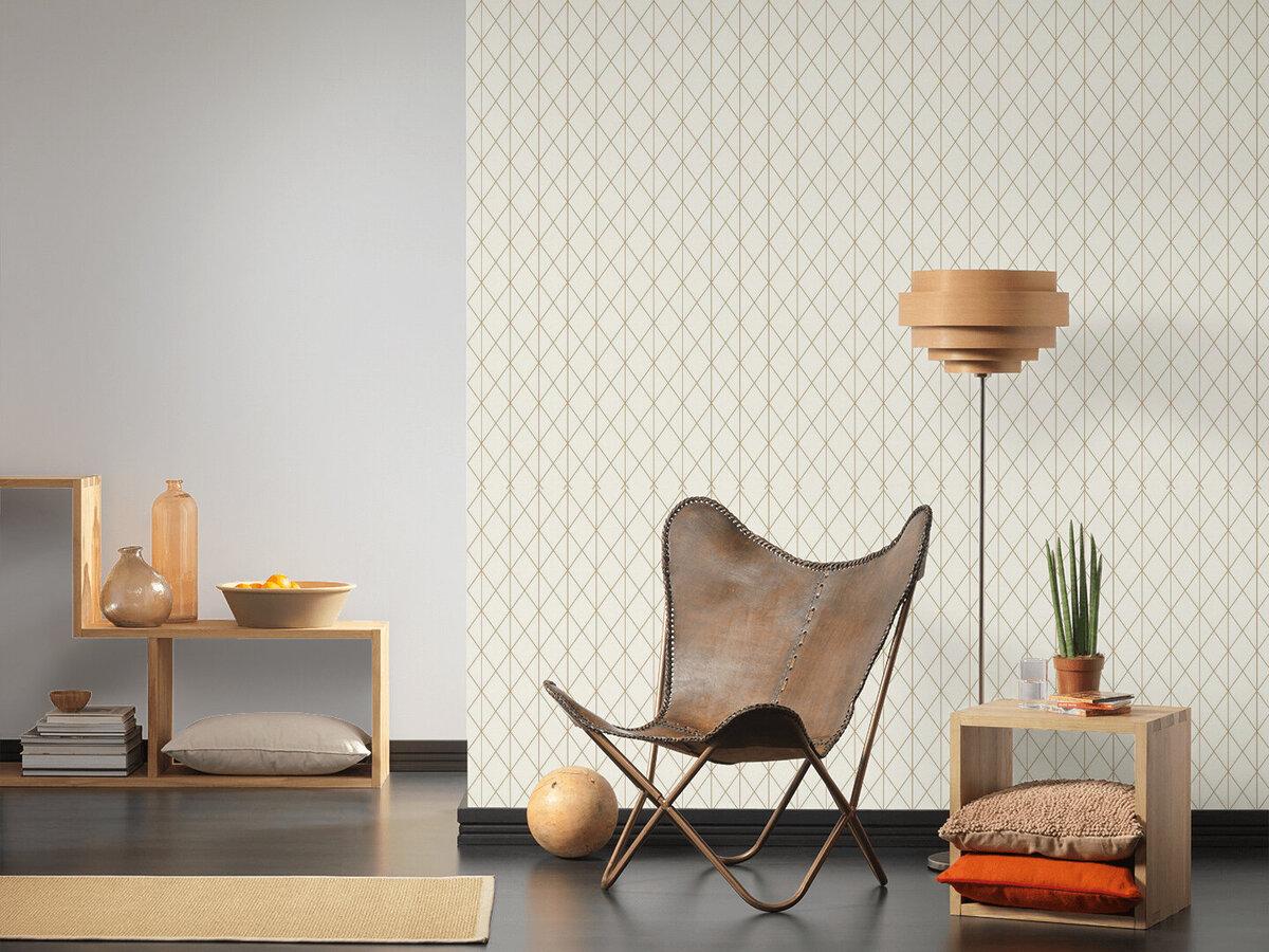Bild 3 von A.S. Creation Vliestapete Designdschungel by Laura N.- gold metallic-creme - 10 Meter