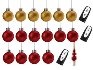 MELINERA® LED-Weihnachtsbaumkugeln/-dekoration