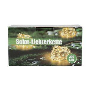Solar-Drahtlichterkette 21,9m 200 Micro-LEDs Warmweiß