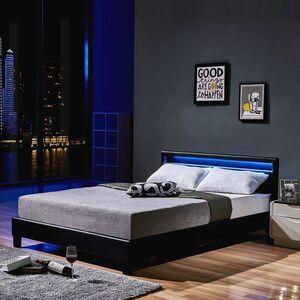 Home Deluxe LED Bett Astro 140x200, schwarz