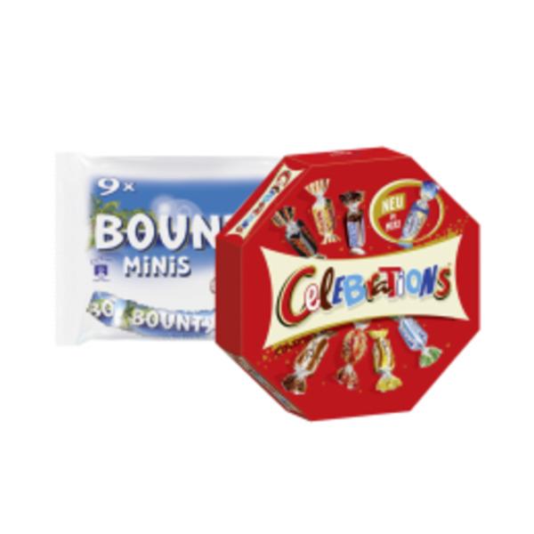 Mars, Snickers, Twix, Bounty, Milky Way Minis oder Celebrations