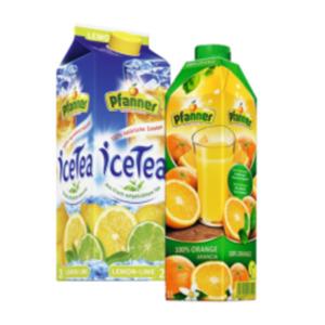 Pfanner Ice Tea oder Säfte