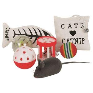 Katzenspielzeug-Set mit Katzenminze 7-teilig