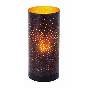 """Flector              LED-Tischleuchte """"Kamina"""", schwarz-gold, 12x27 cm"""