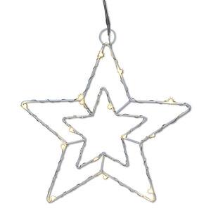 LED-Hänge-Stern - weiß - 22 cm